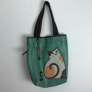 CHALA CAT TURQUOISE TOTE PURSE